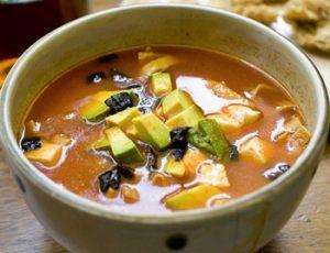 sopa de tortilla receta facil